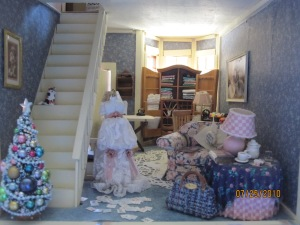 ...the family room's a mess...