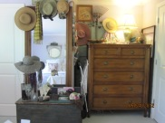 dresser in alcove...formerly a closet